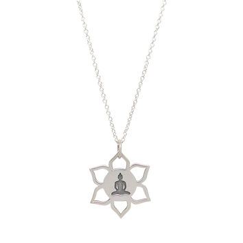 Buddha Lotus Pendant Necklace