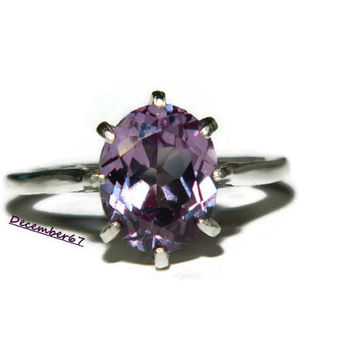 Alexandrite Color Change Ring, Oval Beauty