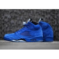 """Ready Stock"" Air Jordan 5 ¡°Blue Suede¡± Men Sneaker"