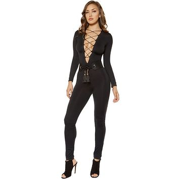 Sexy Strappy Lace-up Jumpsuit