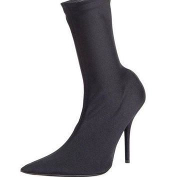 ONETOW balenciaga stretch fabric 110mm bootie 2