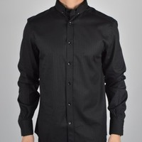 Versace Collection Button Down Spot Detail Shirt V300143 - Black