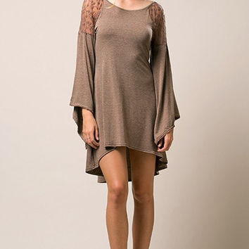 Fall-ing in Love Bell Sleeve Boho Dress - FINAL SALE