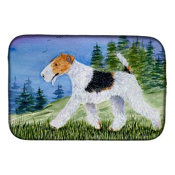 Fox Terrier Dish Drying Mat SS8599DDM