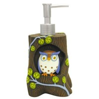 Allure Home Creations Awesome Owls Resin Lotion Bottle