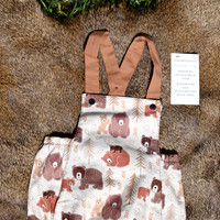 Bear Romper - Baby Boy Bubble Romper - Baby Romper - Baby Bubble Romper - Baby Vintage Clothes - Woodland Baby Shower - Woodland Baby Romper