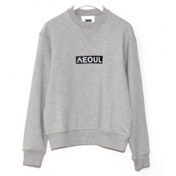 NOHANT Love City Seoul Sweatshirt_Gray