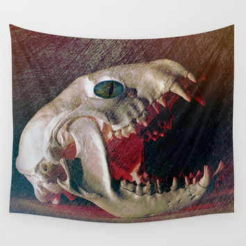 My Spooky Gothic Halloween Wall Tapestry by Lena Owens/OLenaArt