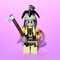 Tonto Keychain - made from New Lone Ranger LEGO (r) Minifigure
