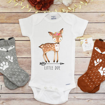 Baby Girl Clothes, Baby Girl Shirt, Little Doe Shirt, Boho Baby Clothes, Cute Baby Onesuits