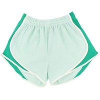 Shorties Shorts in Mint Green Seersucker by Lauren James