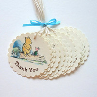 Thank You Winnie the Pooh Tags - Baby Shower / Birthday