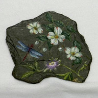 Dragonfly Painting on Slate