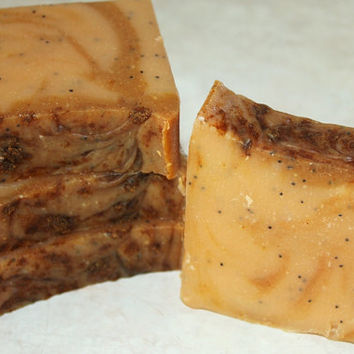 Goat milk soap, gentle bar soap, sensitive skin, turmeric powder, orange soap, natural handmade, ginger tea