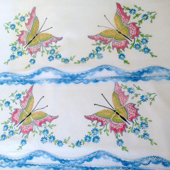 Vintage cutter pillowcases liquid from dollyjayne on etsy