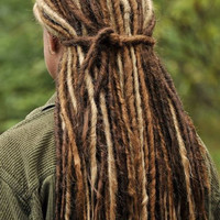 Custom Set of Natural Looking Dreads by DreadnaughtDarling on Etsy