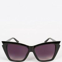 I'm Glossy Winged Sunglasses | MakeMeChic.com