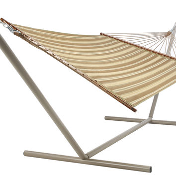 Nuetral Stripe Quilted Hammock by Castaway