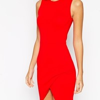ASOS PETITE Asymmetric Sleeveless Bodycon Dress