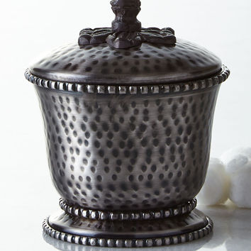 Hammered Lidded Canister