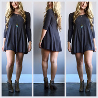 A Soft Kitty Tunic in Charcoal