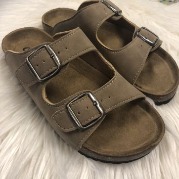 Birkenstock Inspired Sandals- Taupe