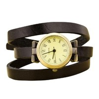 jeansian Women's Wrist Watch Fashion Pu Faux Leather Band ZWF016