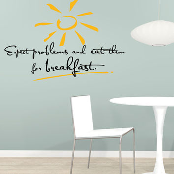 Vinyl Wall Decal Sticker Problems For Breakfast #5359