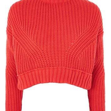 Knitted Cropped Jumper | Topshop