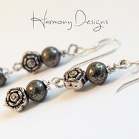 Sterling Silver Pyrite Earring Dangles