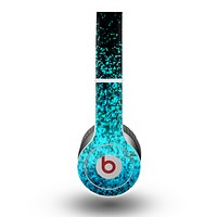The Black and Turquoise Unfocused Sparkle Print Skin for the Beats by Dre Original Solo-Solo HD Headphones