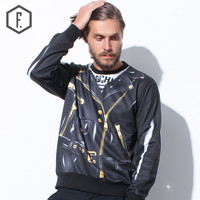 Long Sleeve Pullover Winter Men's Fashion Round-neck Hoodies [8822221891]