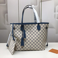 LV Louis Vuitton DAMIER CANVAS NEVERFULL HANDBAG TOTE BAG