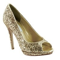 shop prom dresses | plus size prom dresses | prom shoes | Tease by Touch Ups TU4031 Gold Peep Toe Platform | GownGarden.com