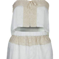 Lace PJ Crop Top and Shorts - Nightwear - Clothing