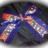 1D One Direction Red & Blue Cheer/Cheerleading/Dance Bow Ribbon