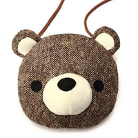 Lovely Bear Cotton Shoulder Bag