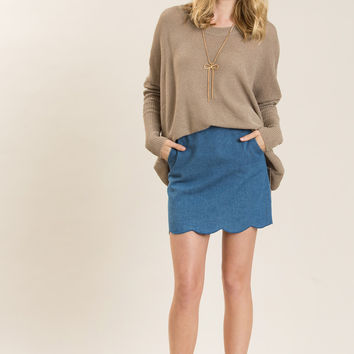 Amber Taupe Knitted Sweater