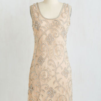 Vintage Inspired Mid-length Sleeveless Sheath Your Plaza or Mine? Dress in Cappuccino