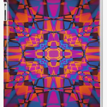 'Kaleidoscope star pattern' iPad Case/Skin by steveball