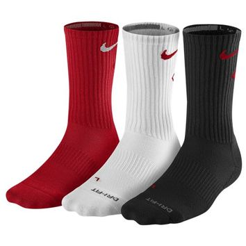 Nike 3 Pack Dri-FIT Fly Crew 1 Socks - Men's at Foot Locker