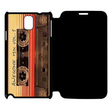 vintage AWESOME MIXTAPE Samsung Galaxy Note 4 Flip Case Cover
