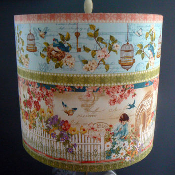 Secret Garden Drum Lamp Shade