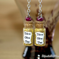 Beauty and the Beast Tale as Old as Time Magical Earrings Disney inspired by Life is the Bubbles