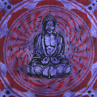 Purple Buddha Wall Decorative Indian Cotton Tapestry & Wall Hanging