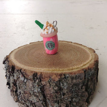 Starbucks Cotton Candy Frappuccino Polymer Clay Charm