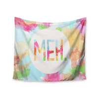 "Skye Zambrana ""Meh"" Rainbow Watercolor Wall Tapestry"