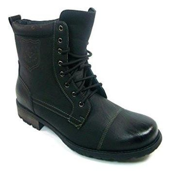 Polar Fox Men's 550  Military Combat Lace Up Calf Boots
