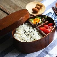 Lunch-box Japanese Style Bento Boxes Wood Lunch Box Handmade Wooden Sushi Tableware Bowl Food Container