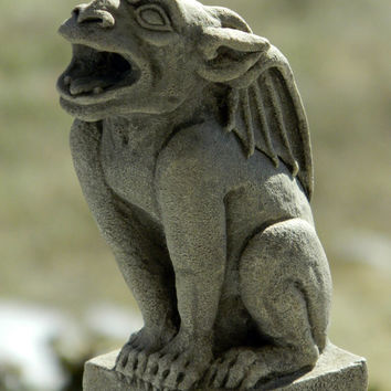 Babygoyle- gargoyle sculpture- gothic architectural ornament- Cast Shadows Studio- Richard Chalifour